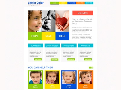 Free responsive html5 theme for charity website