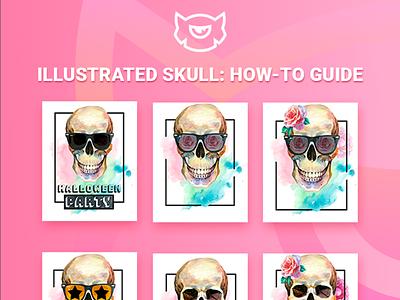 Get Ready for Halloween with Skull Illustration skull halloween