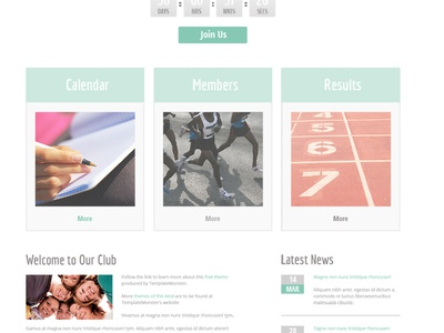 Free Sport Website Template free freebie free sport template free html5 theme html5 sport