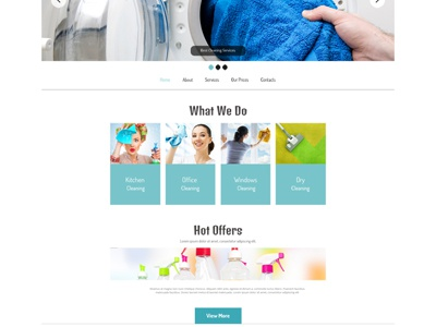 free website template for cleaning company - Free Website Templates