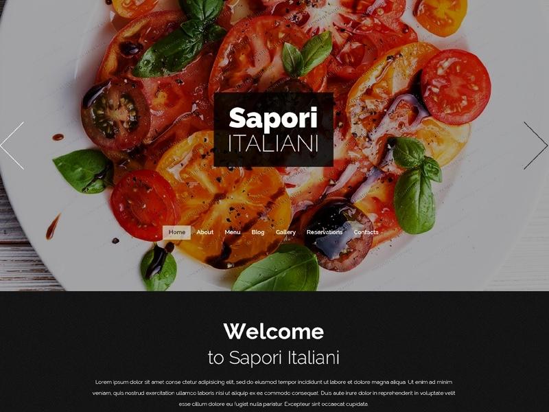 Free Drupal Italian Restaurant Theme By Templatemonster Dribbble