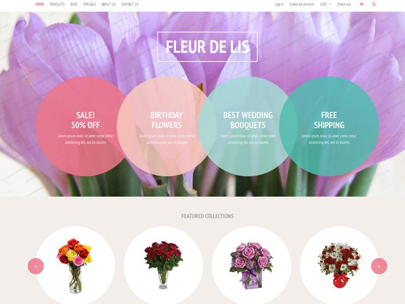Free Fleur de lis Shopify Theme by TemplateMonster - Dribbble