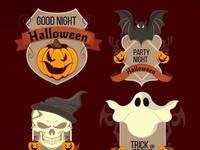 Halloween night labels