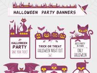 Purple halloween labels