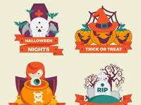 Cute halloween badges