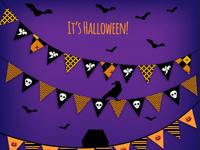 Halloween garlands vector
