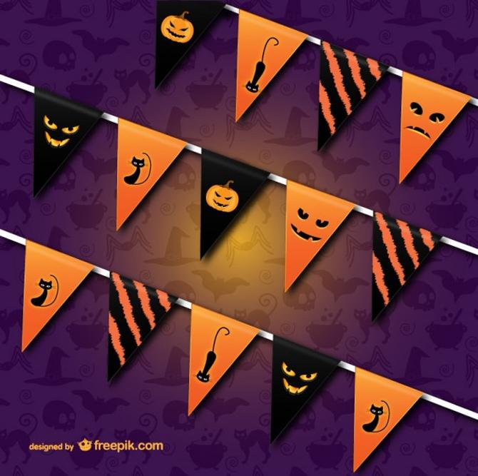 Halloween bunting vector