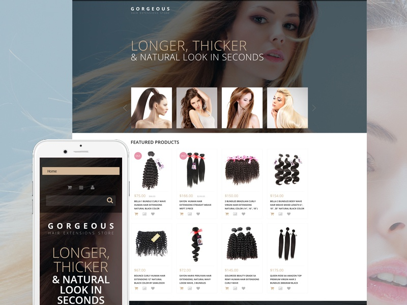 Hair Extensions Woocommerce Theme By Templatemonster Dribbble
