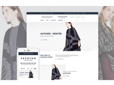 Ladies Clothing Magento Theme #58060 magento theme website template clothes online store fashion magento