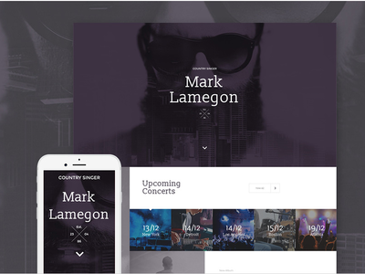 Singer Responsive Landing Page Template #58249