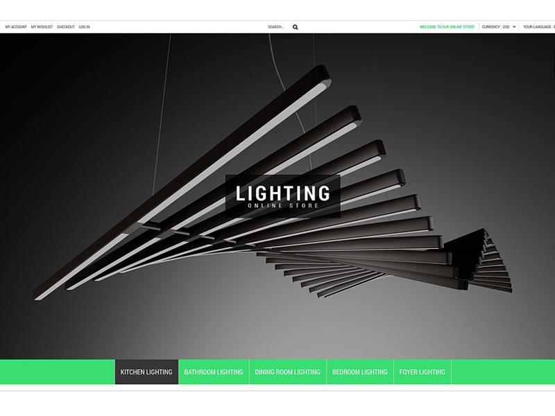 Lighting Online Store PrestaShop Theme #54857