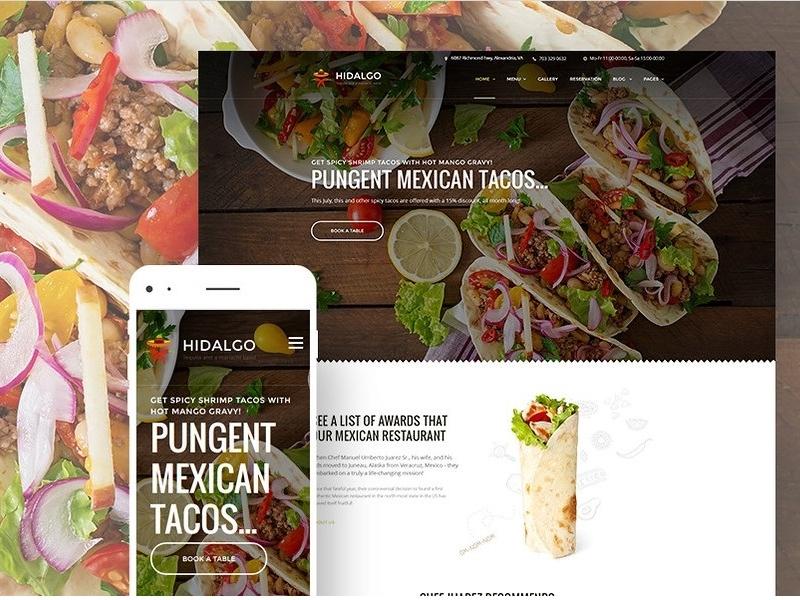 Hidalgo mexican food restaurant wordpress theme by templatemonster hidalgo mexican food restaurant wordpress theme by templatemonster dribbble maxwellsz