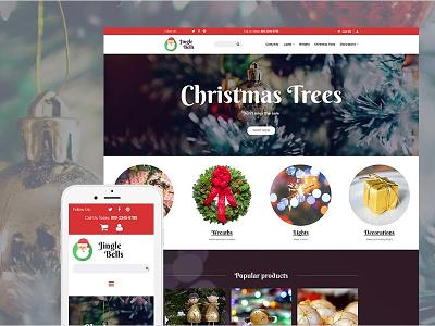 Christmas Responsive MotoCMS Ecommerce Template christmas templates gifts holidays motocms ecommerce