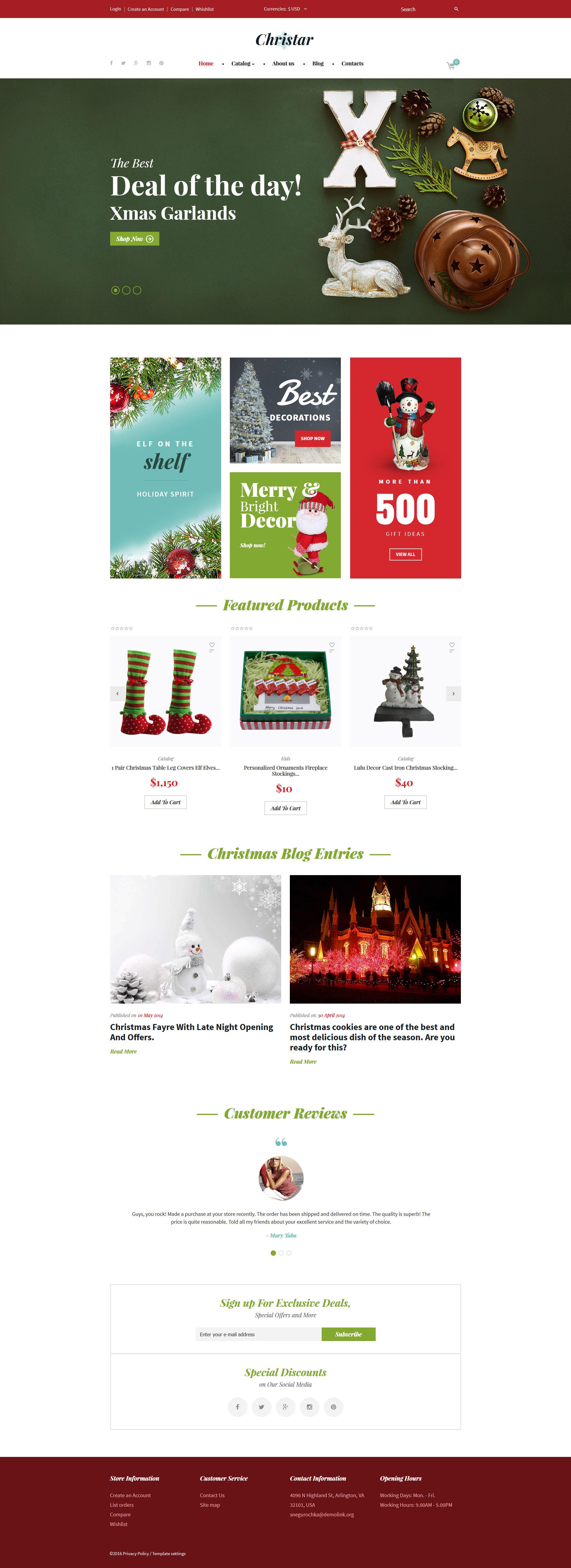 Christmas responsive virtuemart template 62136 original