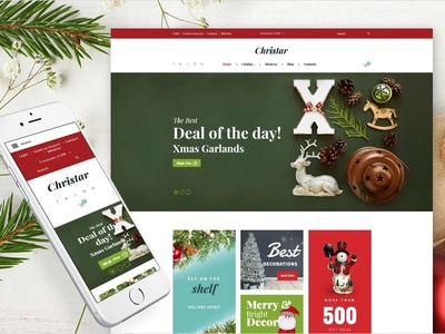 Christmas Responsive VirtueMart Template christmas templates gifts holidays virtuemart ecommerce