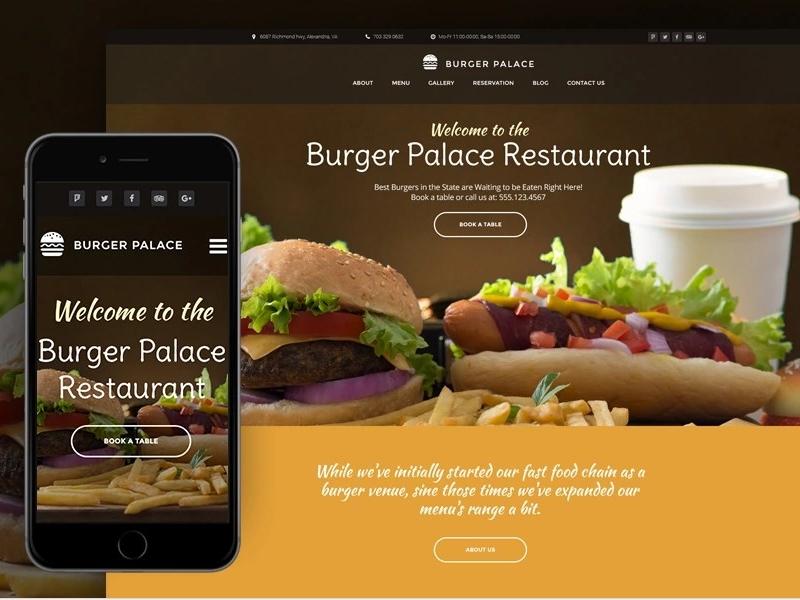 Burger Palace Fast Food Restaurant Wordpress Theme By