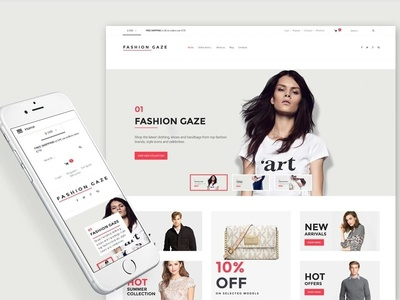 Fashion Store Responsive VirtueMart Template fashion store template beauty fashion virtuemart ecommerce