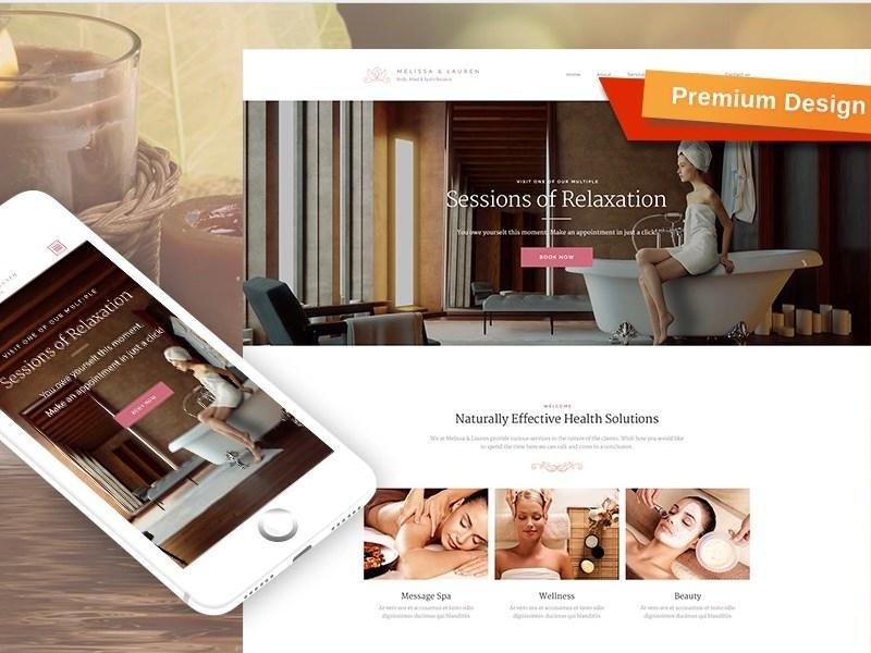 Beauty Salon Responsive Premium Moto CMS 3 Template beauty salon template beauty fashion motocms