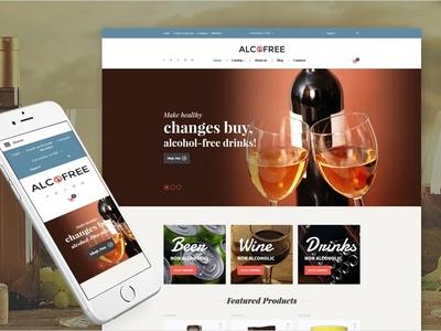 Food & Drink Responsive VirtueMart Template responsive webdesign drink restaurant food virtuemart ecommerce