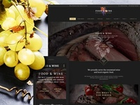 Food Wine Website Template
