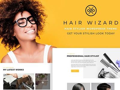 Hair Stylist WordPress Theme website template responsive design hair salon beauty fashion wordpress