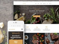 Ricardo - Gourmet Restaurant Responsive WordPress Theme