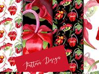 Cool Red Sarracenia PNG Watercolor Set Illustration
