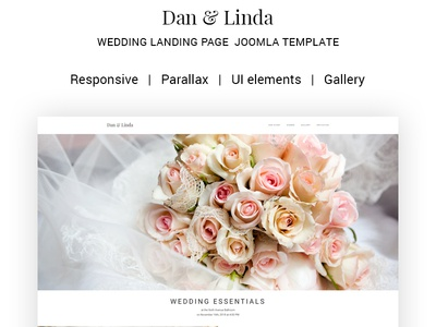 Dan Linda Sophisticated Wedding Joomla Template