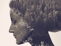 Double Exposure Effect On Website Background