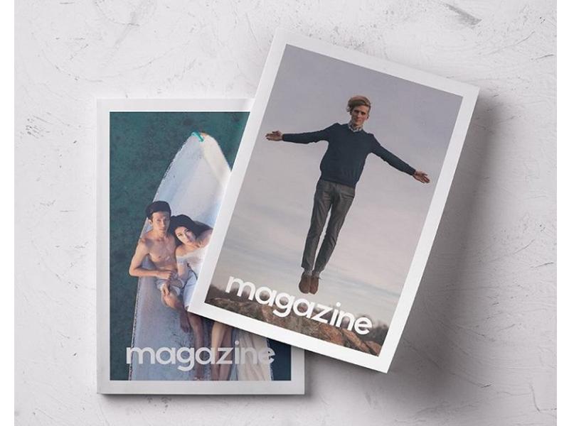 Free Magazine Template | 50 Free Magazine Psd Mockup Templates By Templatemonster Dribbble