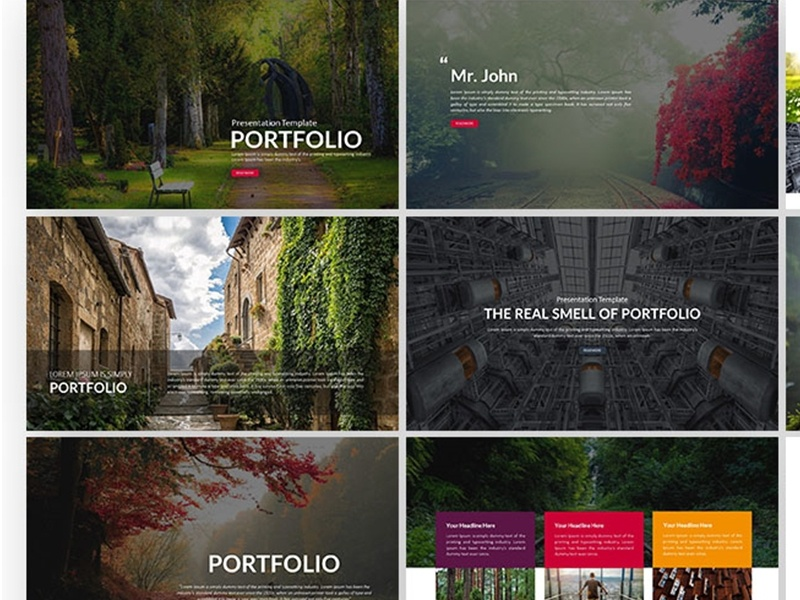 Portfolio presentation powerpoint template by templatemonster dribbble show your portfolio presentation at different levels with the portfolio powerpoint presentation template with a simple and professional layout design this maxwellsz