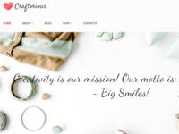 Craftorious - Handmade Gift Shop MotoCMS Ecommerce Template