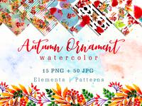 40 Autumn Illustration Sets