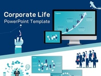 Corporate Life PowerPoint Template