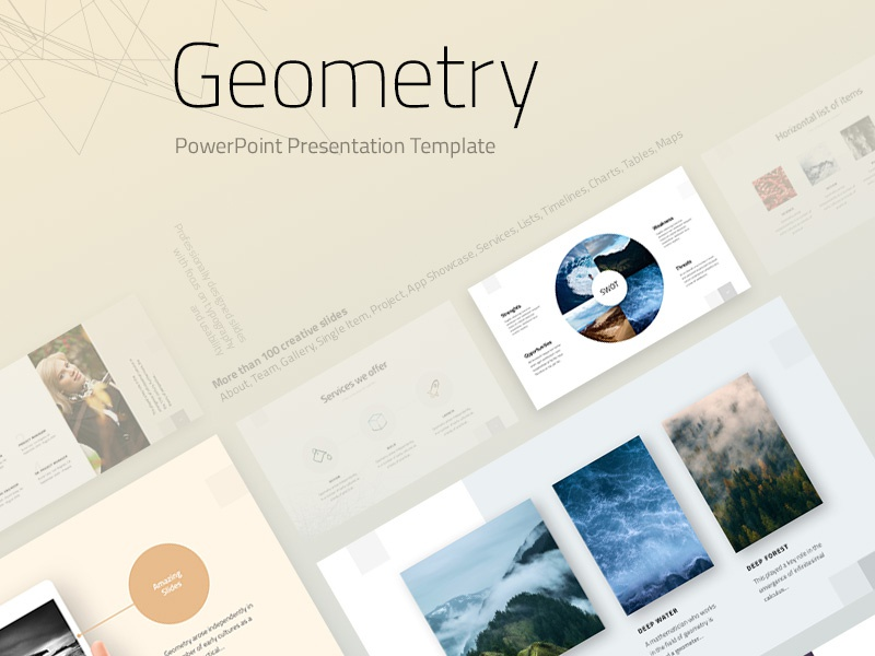 geometry powerpoint template by templatemonster dribbble dribbble