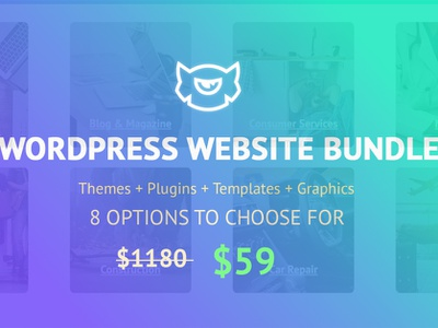 8 Complete Bundles for 8 Different Niche web design website bundle website wordpress