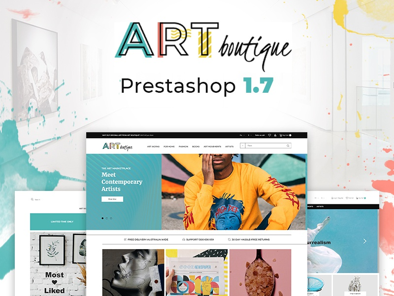 Art Gallery Modern Bootstrap Ecommerce PrestaShop Theme by