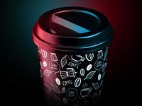 Coffee Cup Animated Product Mockup
