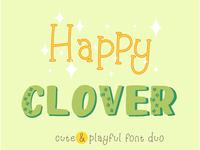 Happy Clover Duo + Doodles Font