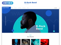 Music Band Multipage Creative HTML Website Template