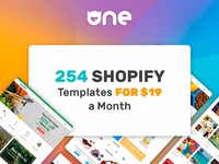 254 Shopify Templates for $19 a Month: the ONE Subscription