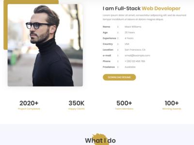Creative Resume/Portfolio HTML5 Template Landing Page Template