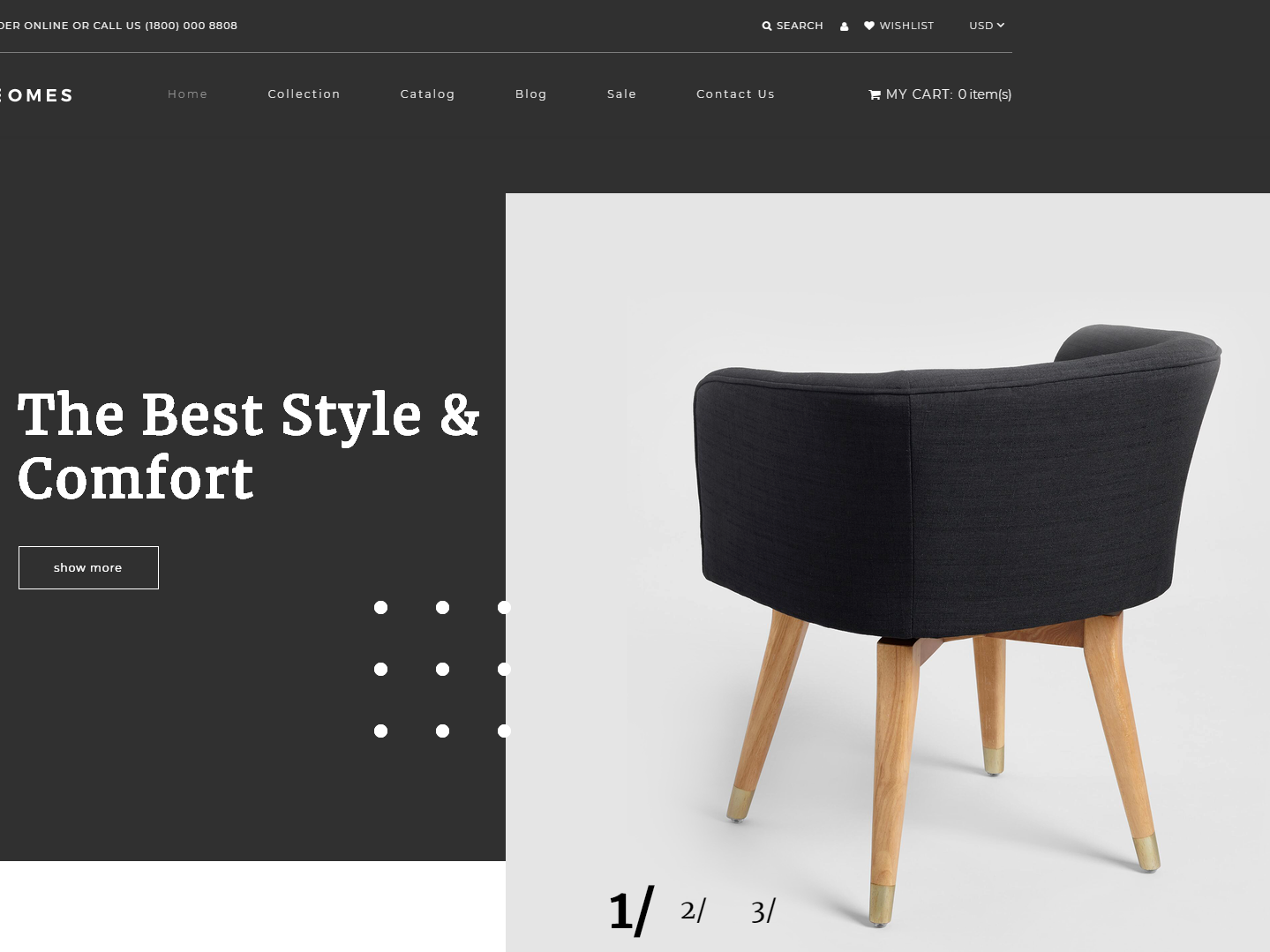 Homes - Home Decor Multipage Minimalistic Shopify Theme website webdesign shopify shopify theme minimalistic multipage home decor
