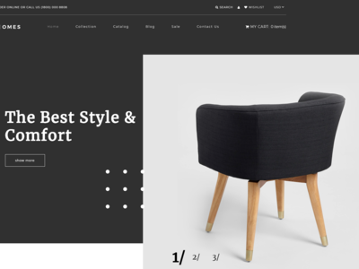 Homes - Home Decor Multipage Minimalistic Shopify Theme