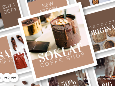 Soklat Pack Social Media #84057 instagram social media template social media marketing social media banner social media design social media socialmedia