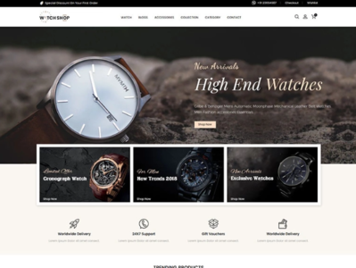 Watch Store Responsive Shopify Theme #84702 website webdesign ecommerce shopify theme shopify jewerly template watch template watch store template watch watch srore