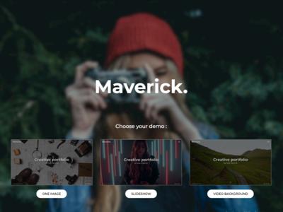 Maverick - Photography Portfolio Landing Page Template #84684