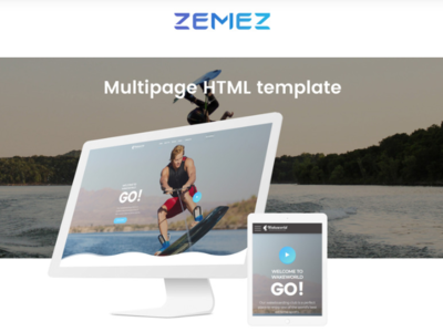 Wakeworld - Surfing Multipage Creative HTML Website Template sport template surfing template website template website html multipage website surfing