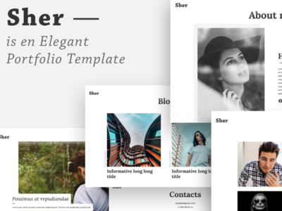 Sher - Responsive Portfolio Website Template design webdesign template portfolio template website portfolio