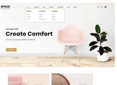 Space - The Furniture Shop OpenCart Template $72 webdesign webdevelopment websites furniture template opencart website furniture store furniture shop